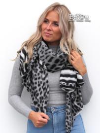Sjaal Maya Grijs