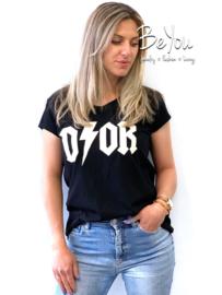 T-Shirt Melody Zwart Wit