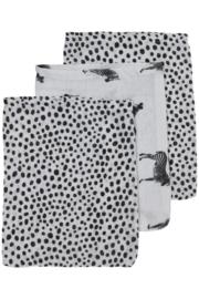 Meyco - 3 Pak washandjes Zebra