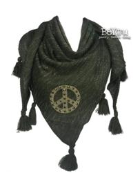 Boho Peace Shawl Green