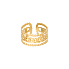 Ring Fleur Goud