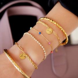 Armband Kraal Goud