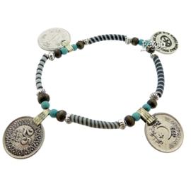 Flip Flop Bracelet Coins Black