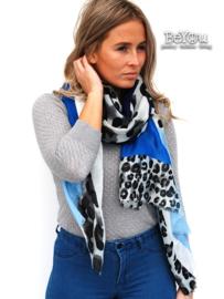 Sjaal Roos Blauw