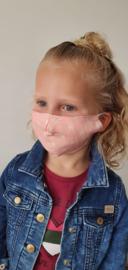 Wasbaar Mondkapje Kids Ster Roze