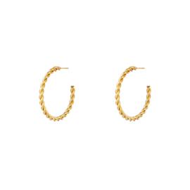 Oorringen Maud Goud 4 cm