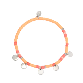 Armband Fiene Oranje Zilver