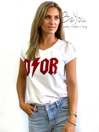 T-Shirt Melody Wit Rood