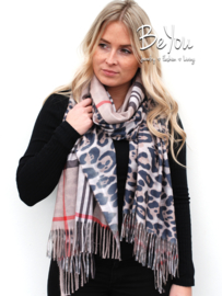 Sjaal Lily Bruin
