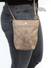 Rounded Star Purse Taupe