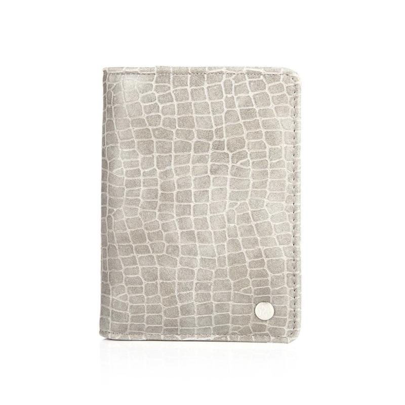 Paspoort Hoesje Croco Grijs