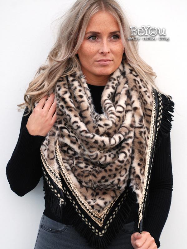 Sjaal Jade Panter Bruin