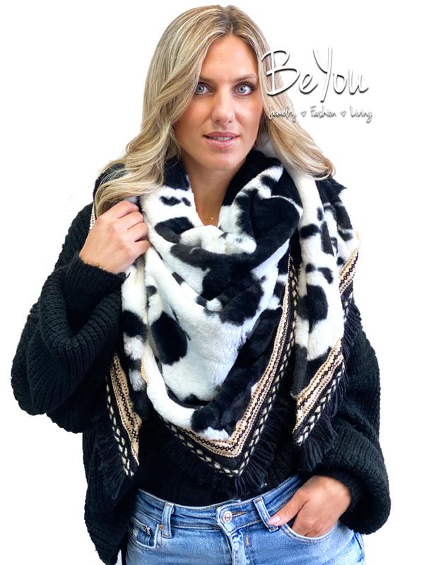 Sjaal Jade Koe Zwart Wit
