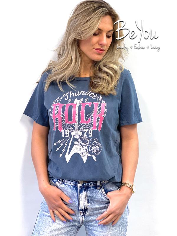 T-Shirt Rock Blauw