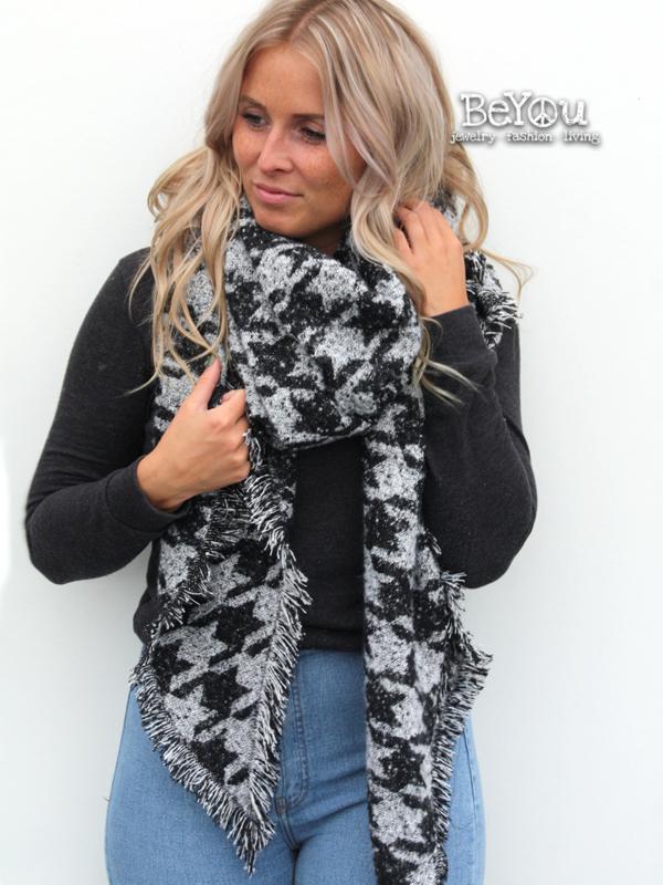 Sjaal Lois Zwart Wit