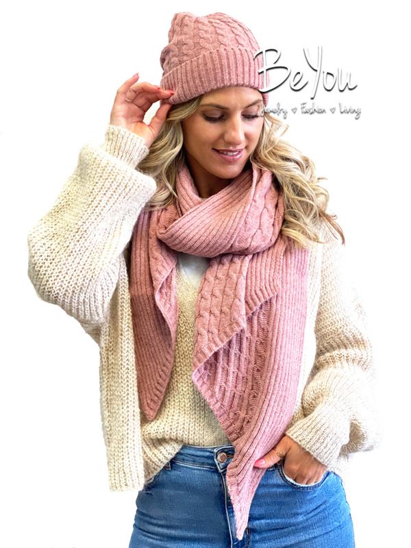 Sjaal Maggie Roze