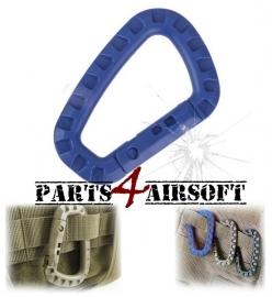 Plastic Tac Link Carabiner D-Ring - Blauw (P4A718)