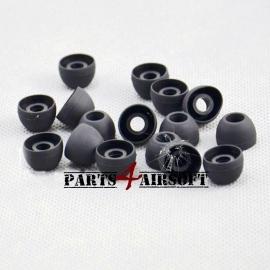 4st Vervangings rubbers oordop - Zwart (P4A233)