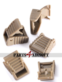 Pull Cord Clips voor rits - 5st - khaki (P4A869)