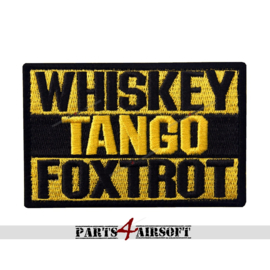 WTF patch (Whiskey Tango Foxtrot) - 9x6cm (P4A905)