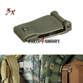 Molle Webbing Buckle - Olive Drab - 3st (P4A363)