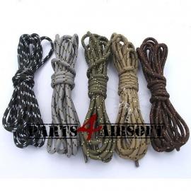 Veters voor legerkisten 140cm - Zwart, Khaki of Olive drab (P4A406)
