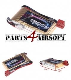 Lipo Batterij / Accu PEQ - 7,4V 1300mAh - 30C (P4A714)