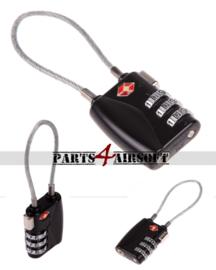 Cijfer Hangslot met kabel (P4A817)