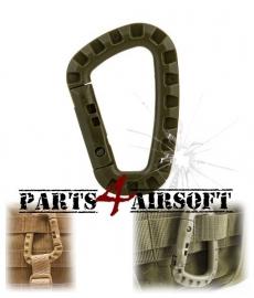 Plastic Tac Link Carabiner D-Ring - Olive Drab (P4A436)