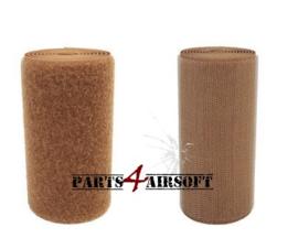 Klittenband 10cmx10cm - Hooks (grof) of Loops (zacht) - Coyote Brown (P4A405)