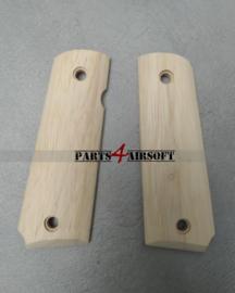 Wood handgrips voor 1911 (P4A1064)