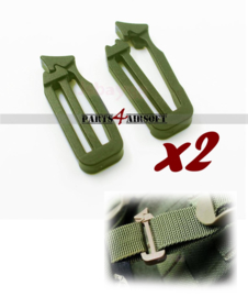 Siamese Slik Connector - 2st - Olive Drab (P4A942)