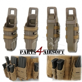 Fast Mag Double Magazin Pistol Pouch - Khaki (Tan) - 2 stuks (P4A609)