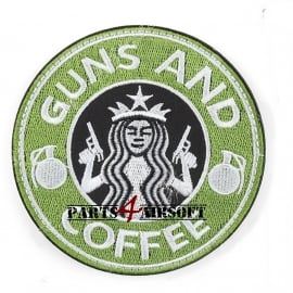 Guns and Coffee Patch - 9cm (P4A509)
