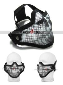 Mesh Facemask - Black Skull (P4A885)
