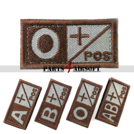 Blood Type patch - O+ pos - Coyote Brown - 5x2,5cm (P4A976)