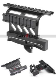 AK47 en SVD Scope Mount met extra RIS rail (See Through) (P4A925)