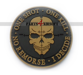 One Shot - One kill PVC Patch - 8cm (P4A906)