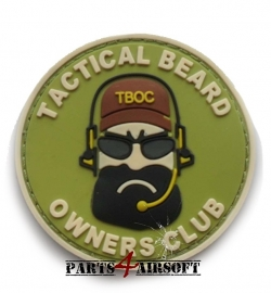 Tactical Beard Owners Club PVC Patch - 6,5x6,5cm (P4A661)