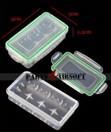 Waterdichte batterij bewaardoos 16340 CR123A 18650 (P4A982)