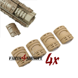 Ris rail Hand guard covers - 4st - Coyote Brown (P4A411)