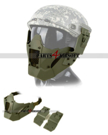 Iron Warrior Faceprotection (Incl Helm mounts) - Olive Drab (P4A1025)