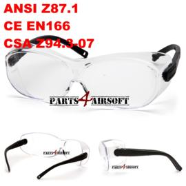 Overzet veiligheidsbril - Clear - CE EN166 - Z87.1 - Z94.3 (P4A571)