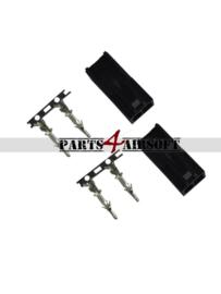 Mini Tamiya stekkers 2x female - Zwart (P4A871)