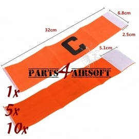 Airsoft Team Bandjes - 1-5-10st - Fluo Oranje (P4A534)