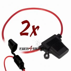 Zekeringshouder - 2st - mini autozekering (P4A420)