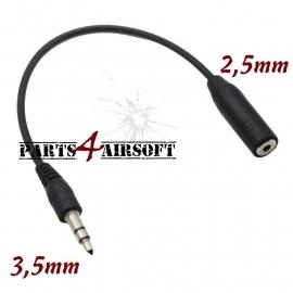 Headset adapter 2,5mm female naar 3,5mm male - 10cm (P4A491)