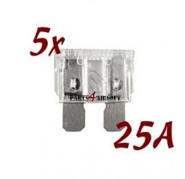 Autozekering 25A - 5st (P4A527)