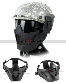 Iron Warrior Faceprotection (Incl Helm mounts) - Black (P4A1027)