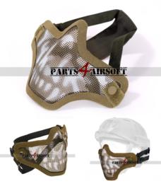 Mesh Facemask - Tan Skull (P4A1065)